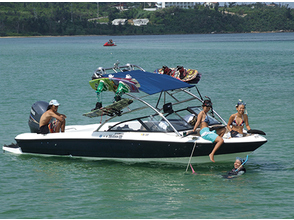 【Okinawa · Ishigakijima】 All you want to play like wakeboarding! Image of boat charter plan (half day charter course)