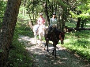【山梨・八ヶ岳】お手軽に体験しよう!乗馬レッスン+ミニトレッキングの画像