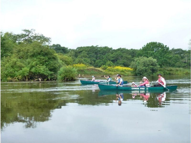 【北海道・釧路】ゆったりとした時間を楽しむカヌー♪塘路湖から岩保木水門までミドルコースの紹介画像