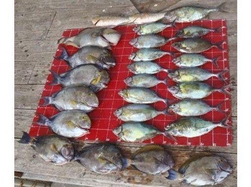 【沖縄・本部】初心者、ファミリーOK!本部釣りイカダ☆手ぶら釣りパックもあります♪(日中釣りコース)