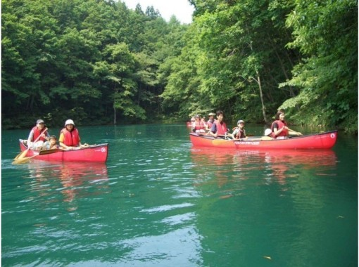 [Nagano / Omachi City Canadian Canoe] Course-Lake Aoki Half-day Course [Lunch or course with BBQ available]の紹介画像