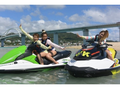 【沖縄・本部・瀬底島】シュノーケリングとマリンスポーツが2種類選べる!Dコースの紹介画像