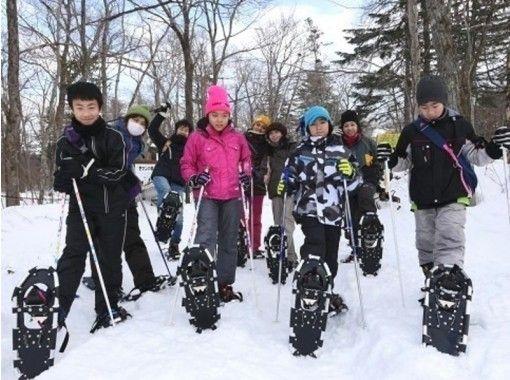 [Hokkaido, Lake Shikotsu]2020[Winter] Ice Art Waterfall Shichijo Otaki Snowshoes Tour Let's walk through the northern landの紹介画像