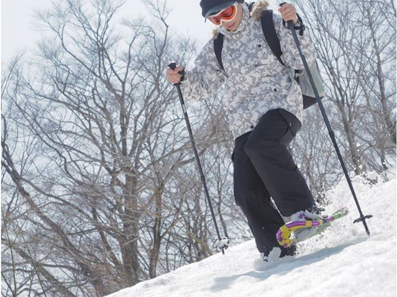 【滋賀・長浜】初心者OK!箱館山スキ―場でスノ―シュートレッキング体験(半日コース)の紹介画像