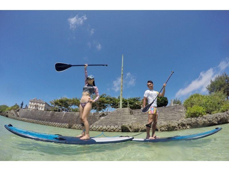 【Okinawa · Miyakojima】 WEB limited price! Popularity No. 1! SUP + Sea turtle snorkel Enjoy both Half day plan introduction image