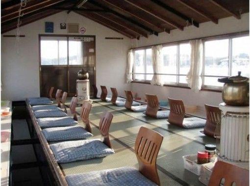 【長野・野尻湖】乗りあいワカサギ釣りプラン~温かい屋形船で楽しもう!釣ったら天ぷらに!