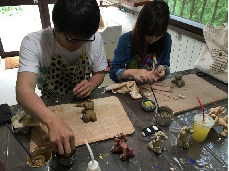 【沖縄・名護】沖縄旅行の記念に!オリジナル陶器シーサー作り (沖縄ドリンク付)の紹介画像