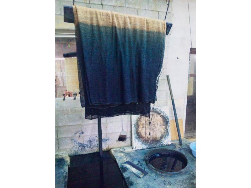 【沖縄・国頭郡・伝統文化体験】自然に癒されながら藍染体験♪手づくり藍染ランチョンマット(大)の紹介画像