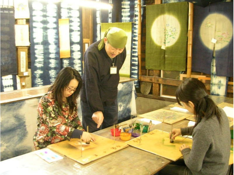 [Kyoto Yuzen experience] feel free to happily print silk introductory course! Introduction to image