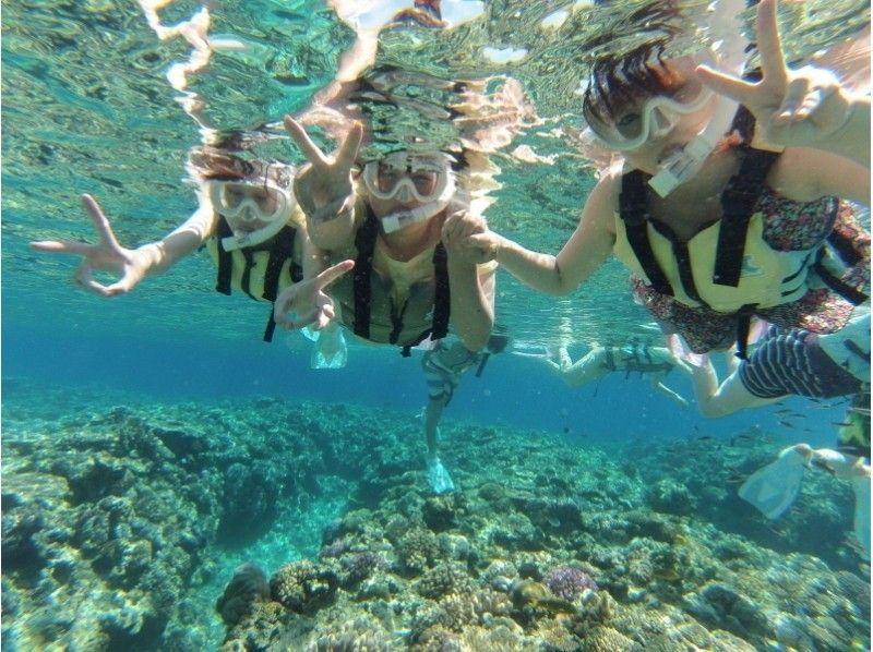 【沖縄・北部エリア/水納島】ボートシュノーケル&のんびり海水浴(ランチBBQ付き!)1日コースの紹介画像