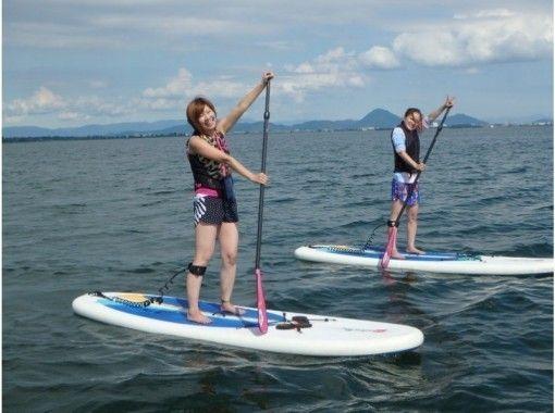 【滋賀・琵琶湖】レンタル込み!琵琶湖-Ogoto Base-で水上散歩SUP体験(初心者コース)