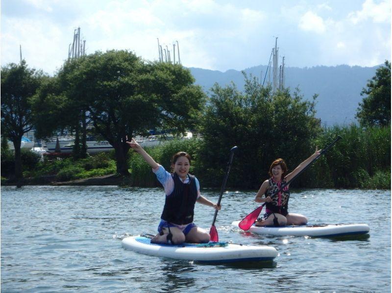 【滋賀・琵琶湖】レンタル込み!琵琶湖で水上散歩SUP体験(初心者コース)の紹介画像