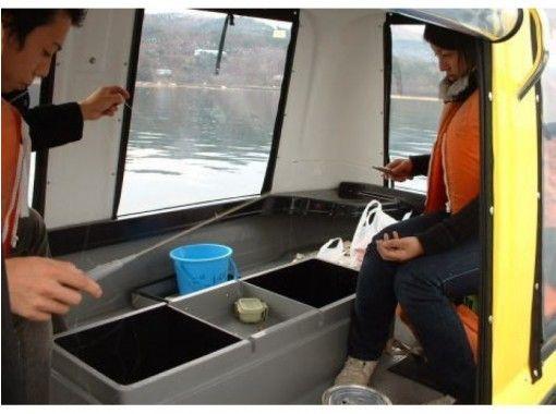 【山梨・山中湖】ちびドーム船貸切でワカサギ釣り(3名様迄)愛犬同乗OK!
