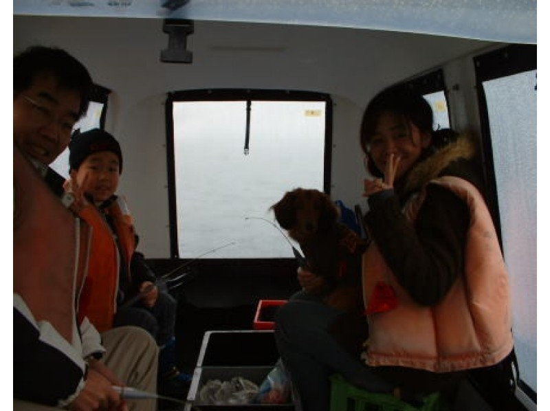 [Yamanashi Yamanakako] Enjoy the smelt fishing with a small number of people! Chibi [up to 1 day, 3 people dome ship chartered plan ♪ Introduction image