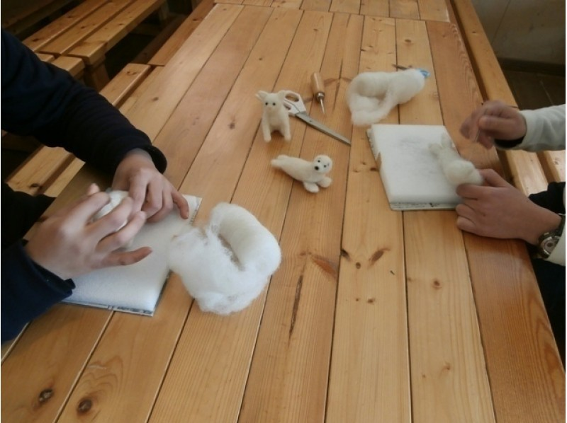 [Hokkaido Sorachi] wool mascot making experience 3 hour course your favorite animal mascot making introduction image