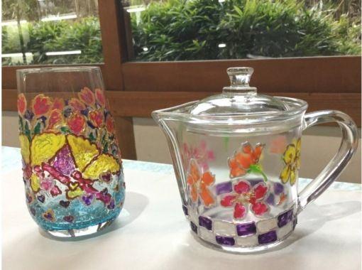 【静岡・ガラスアート】◎さくら坂◎ステンドグラスのような仕上がりに!ガラスアート体験
