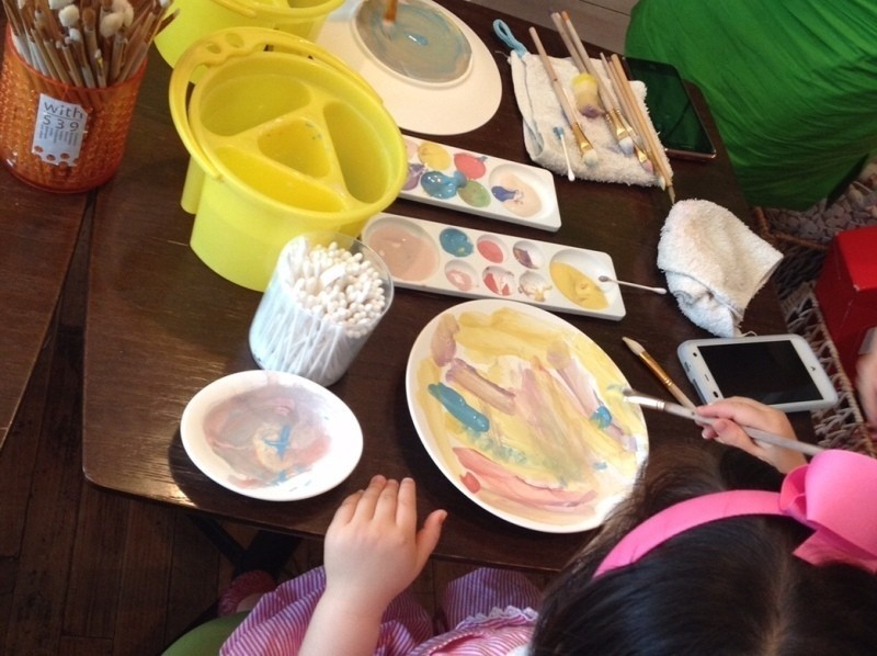 [Painting of Tokyo, pottery] enjoyed in parent and child! Pota Lee painting experience of introduction image