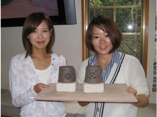 【静岡・伊豆高原・茶香炉作り】いい香りと優しい灯り!茶香炉作り体験