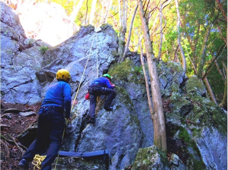 [Okutama rock climbing] welcome the first one! Climb a natural rock! Introduction to image