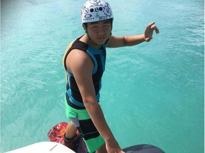 【グループ・団体応援】沖縄本島北部ウェイクボード専用艇ボートチャーター(定員6名様まで)の紹介画像