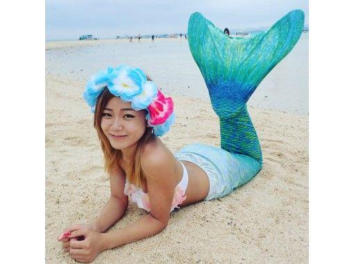 [享受美人魚公主的感覺]女孩的夢想成真!幻影島登陸美人魚照片和海龜浮潛(1天課程)の紹介画像