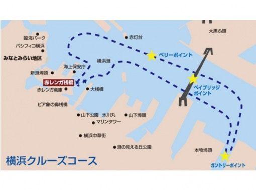 【神奈川・クルージング】快適なクルーザーで行く、赤レンガ倉庫横浜クルーズ