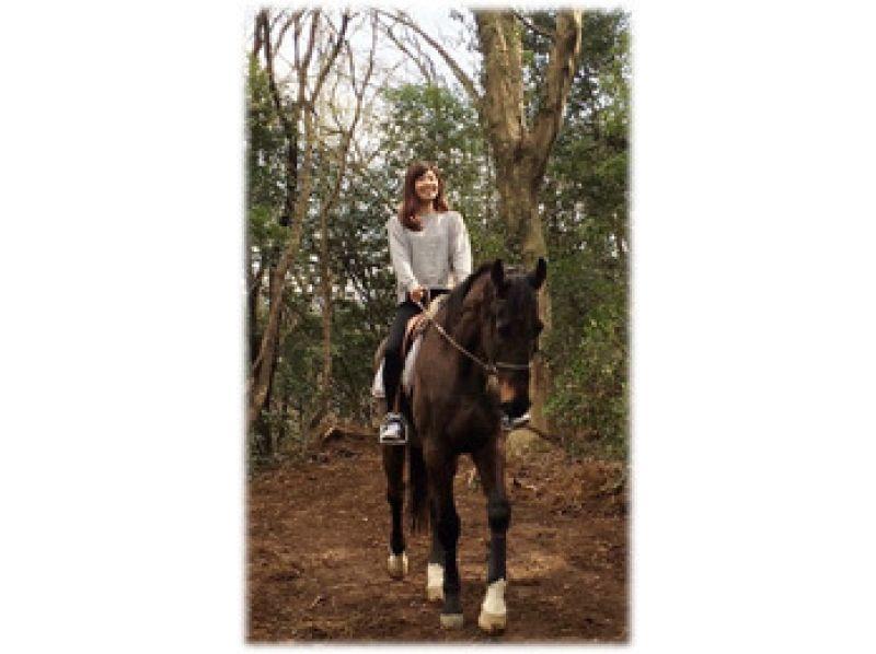 【茨城・守谷】乗馬経験がなくても安心!森のお散歩コースの紹介画像