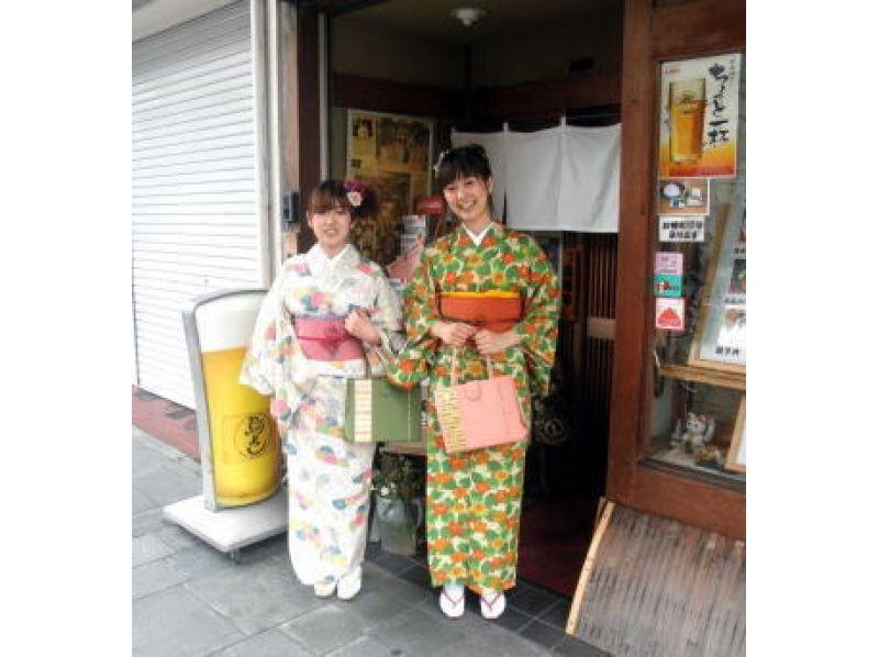 【京都・上京区】京都の街を優雅に散策!着付け+レンタル[ハンバーグ定食ランチ付き]プランの紹介画像