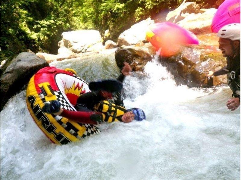 [Yamanashi Katsura River, 40 minutes from Lake Kawaguchi] torrent tubing tour (AM course) single occupancy 7500 yen / Introduction to image
