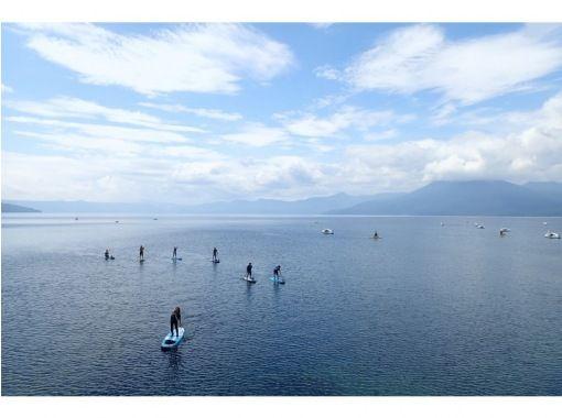 [北海道·SUP]支笏湖的湖面,透明度高巡游船! SUP体验(半天课程)SIJ官方批准课程の紹介画像