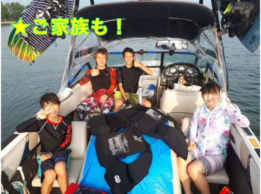 [Shiga ·Biwa lake· Wakeboarding 【For beginners】 10 minutes x 2 set course ♪ If you do it anyway you will definitely stand!の紹介画像