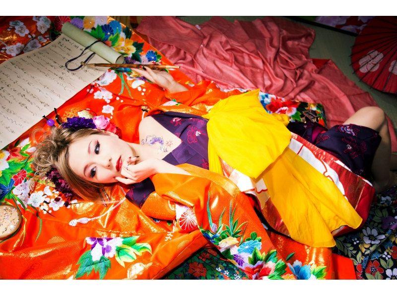 【奈良・花魁体験】髷を使わない現代風花魁「撫子プラン」特典2つ付き!の紹介画像