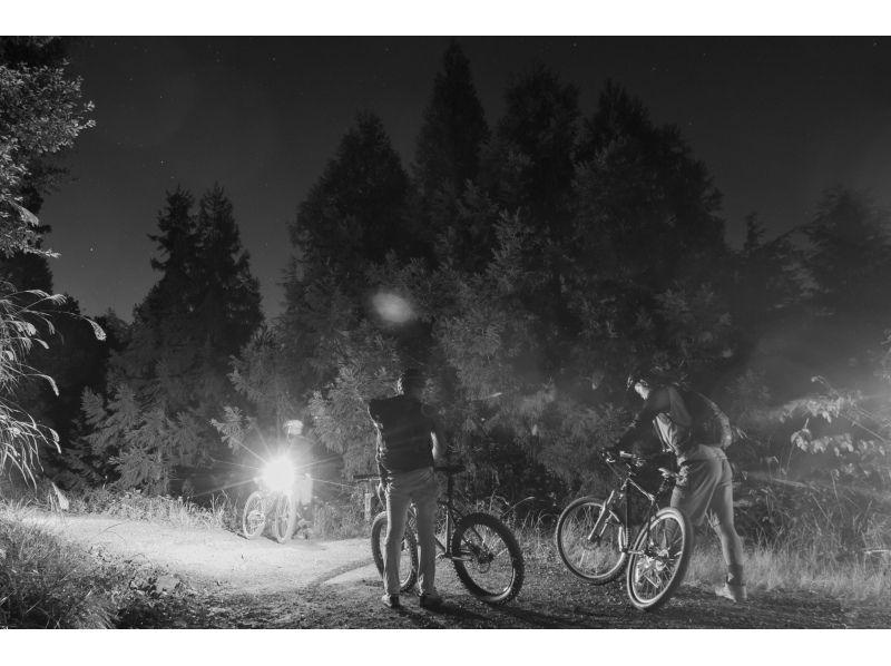 【東京・武蔵五日市】裏山MTBナイトライド&ナイトハイク!夕暮れのマウンテンバイク&トレッキング体験の紹介画像