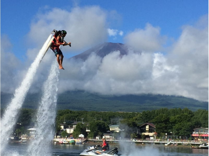 【Yamanashi】 Only in Lake Yamanaka! It is! Let's try it! Introduction image of jet pack experience (beginner course: about 15 minutes)