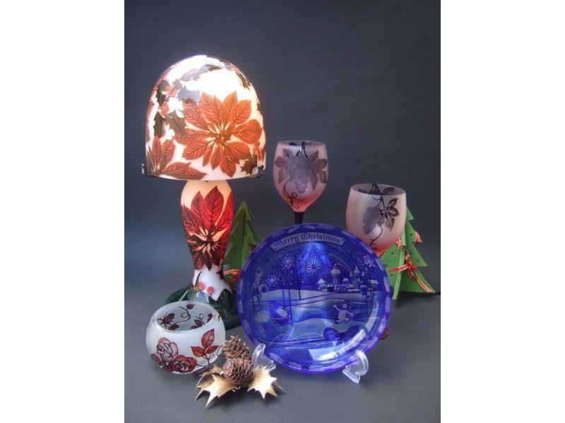 【東京・吉祥寺】サンドブラストの美しいオリジナルグラス作りの紹介画像