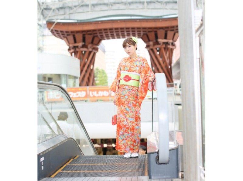 【石川・金沢】着物レンタル体験一番おすすめの心プラン(ヘアセット付)の紹介画像