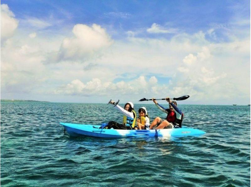 【沖縄・備瀬】綺麗な海へ繰り出そう♪ファミリーにおススメのシーカヤック体験!の紹介画像
