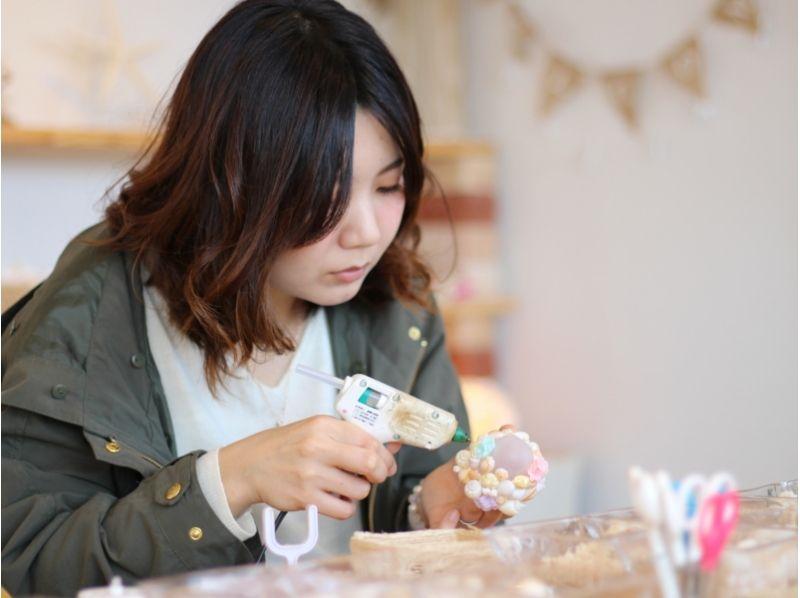 【沖縄・恩納村】貝殻で彩るLEDランプ<ミニシェルランプ手作り体験>の紹介画像