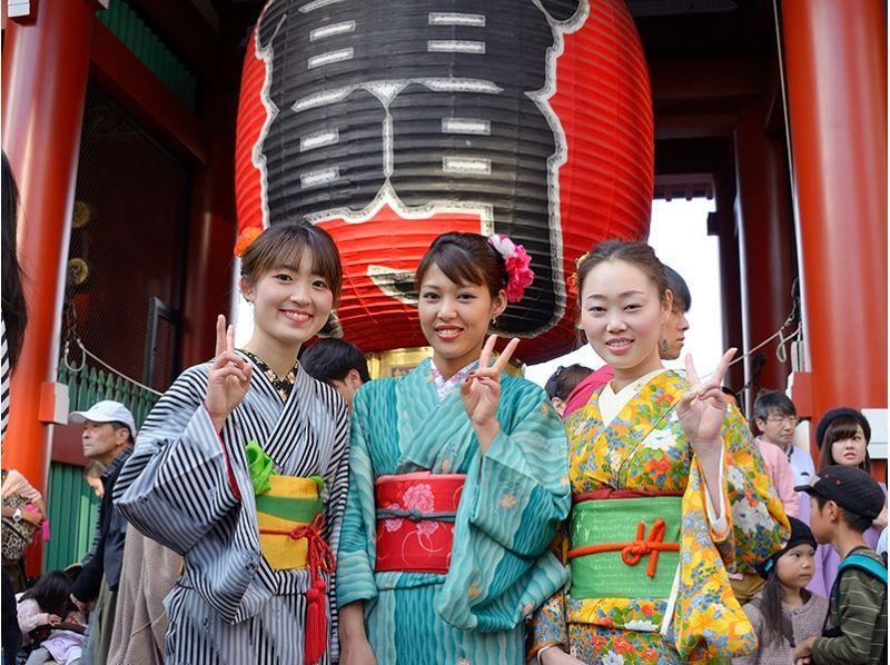 【東京・浅草】ぜーんぶこみこみ格安レンタル着物プランの紹介画像