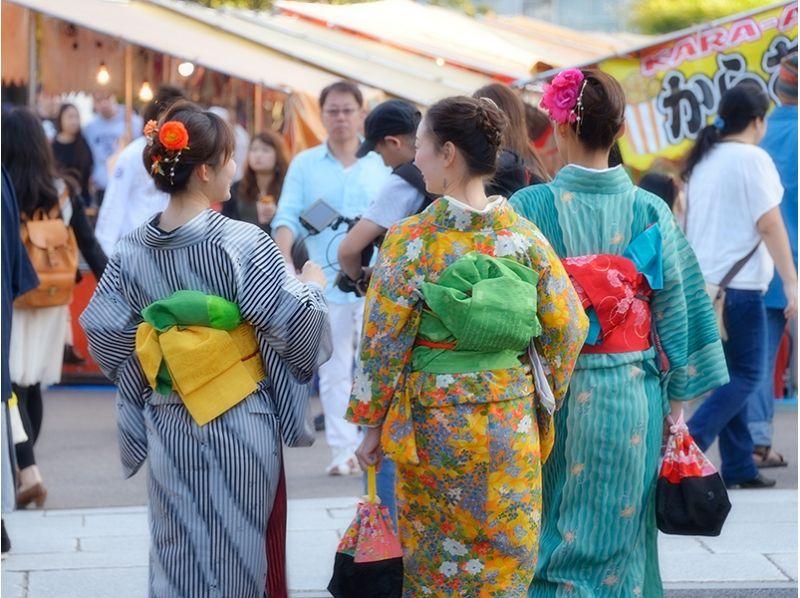 [อาซากุสะโตเกียว] Zane Bukomi แออัดแผนกิโมโนยูกาตะเช่าราคาถูกของภาพแนะนำ