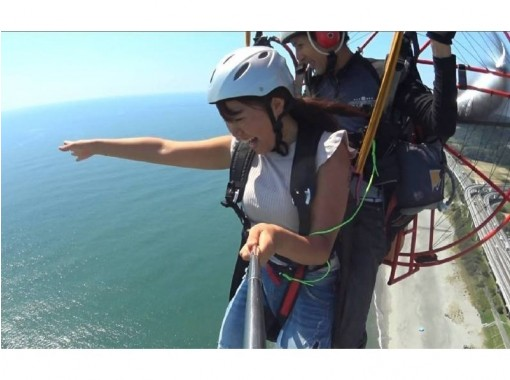【静岡・湖西】パラグライダー2人乗りビーチフライト体験『ビデオ撮影無料』の紹介画像