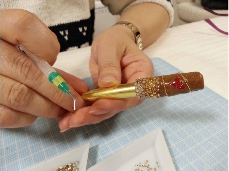 【東京・五反田】スワロフスキーでお好きなアイテムをデコレーション!<ボールペンコース>の紹介画像