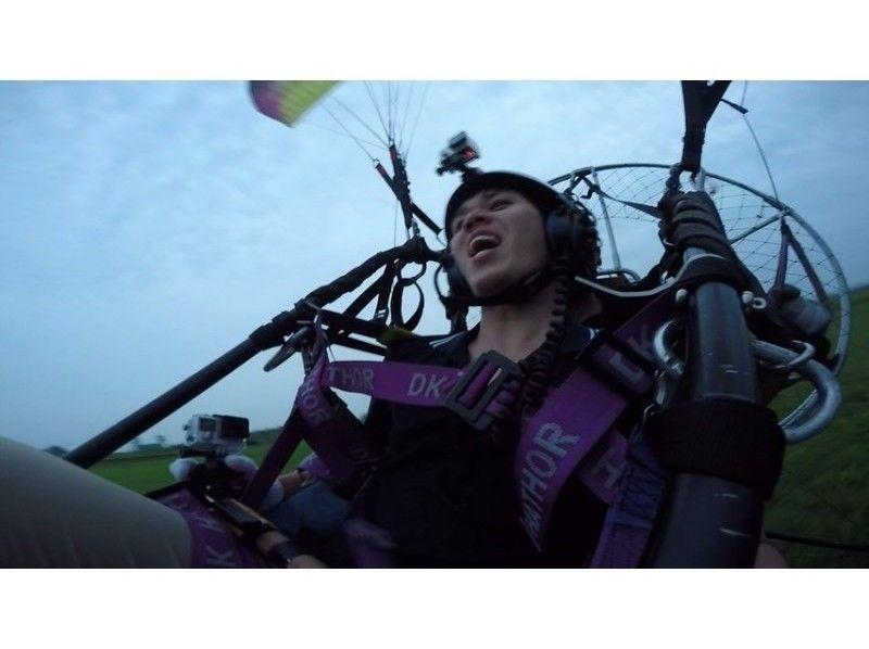 【栃木・佐野】大人のためのモーターパラグライダー(タンデムフライトコース)の紹介画像