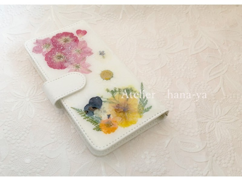 [Tokyo Fujimidai] flower is full! Sumahokesu making introduction image decorate with pressed flowers