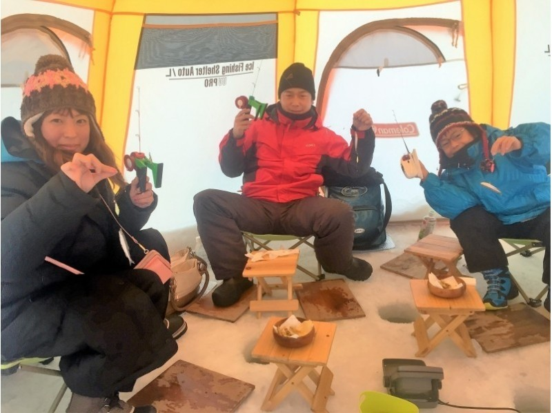 [Hokkaido Minamifurano] ☆ ☆ recommend ice smelt fishing introduction image of the half-day tour pick-up with a plan ♪