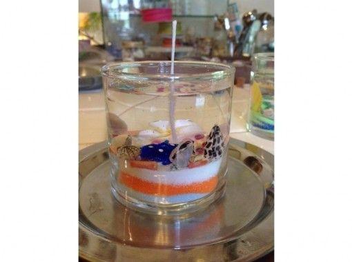 【東京・八丈島】貝殻と海の仲間で作る「ジェルキャンドルコース」4才から楽しめます・手ぶらでOK!