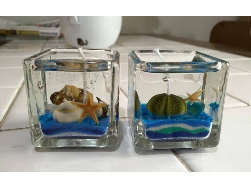 [Tokyo Hachijojima] of gel candle course to make with fellow of shells and sea introduction image