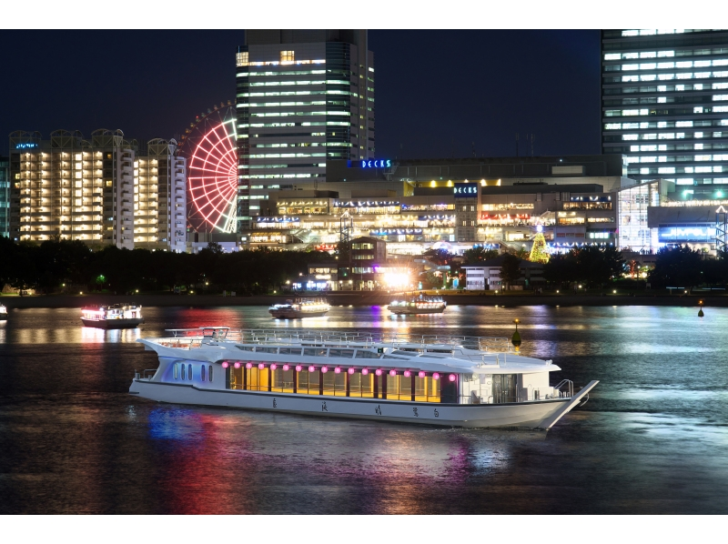 [Tokyo Harumi] introduction image of chic houseboat experience taste in the five senses of Japan (from riding together ship / 2 persons)