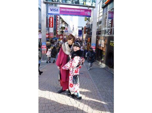 [Tokyo/ Harajuku] Would you like to go to Harajuku on a Rental kimono? Couple plan (30 seconds from Harajuku station)の紹介画像