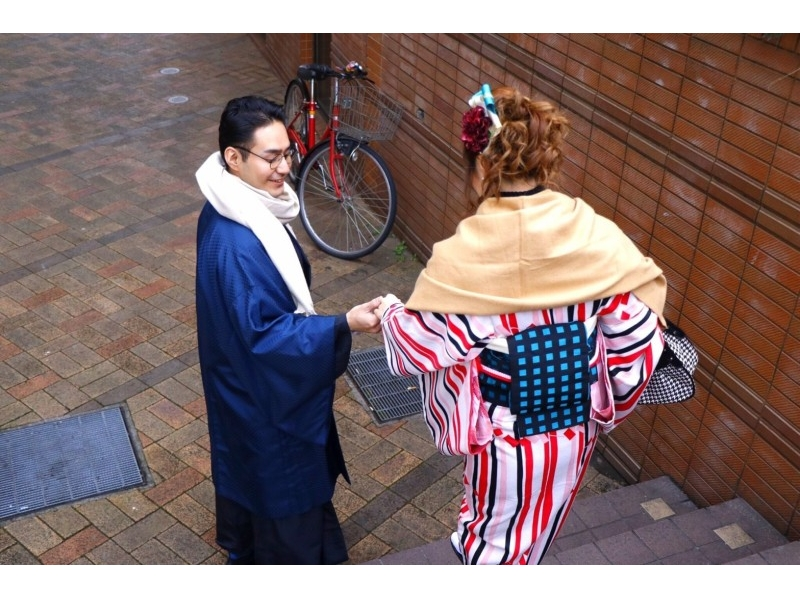 【東京・原宿】レンタル着物で原宿デートしませんか?☆カップルプラン☆の紹介画像